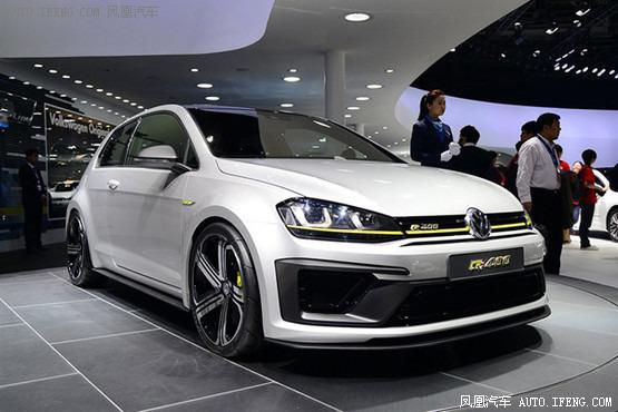 大众高尔夫r400概念车是基于现款在售的第七代高尔夫为基础高清图片